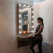 Зеркала ручной работы. Ярмарка Мастеров - ручная работа Гримерное зеркало и ретро столик. Handmade.