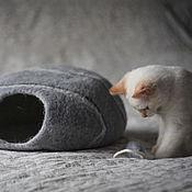 "Для домашних животных, handmade. Livemaster - original item House cat  ""Pebble. Scale 1:15"". Handmade."