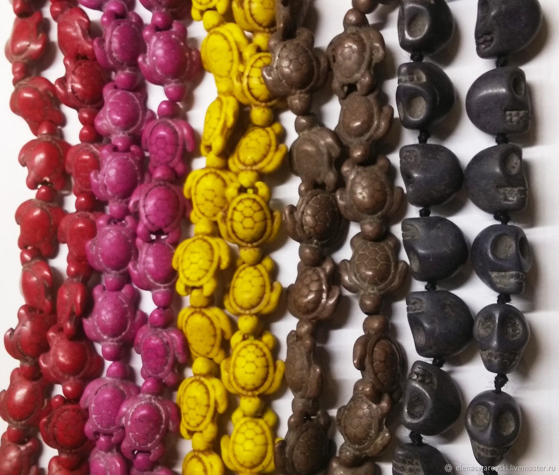 Черепа и черепашки (4 цвета), Бусины, Москва,  Фото №1