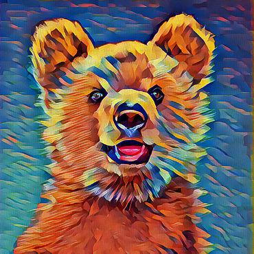 Картины и панно ручной работы. Ярмарка Мастеров - ручная работа Медвежонок. Handmade.