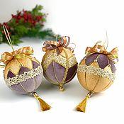 Подарки к праздникам ручной работы. Ярмарка Мастеров - ручная работа Набор новогодних шаров «Звездная пыль». Handmade.