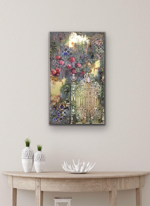 Картина Золотой сад №2, микс медиа, Панно, Москва,  Фото №1