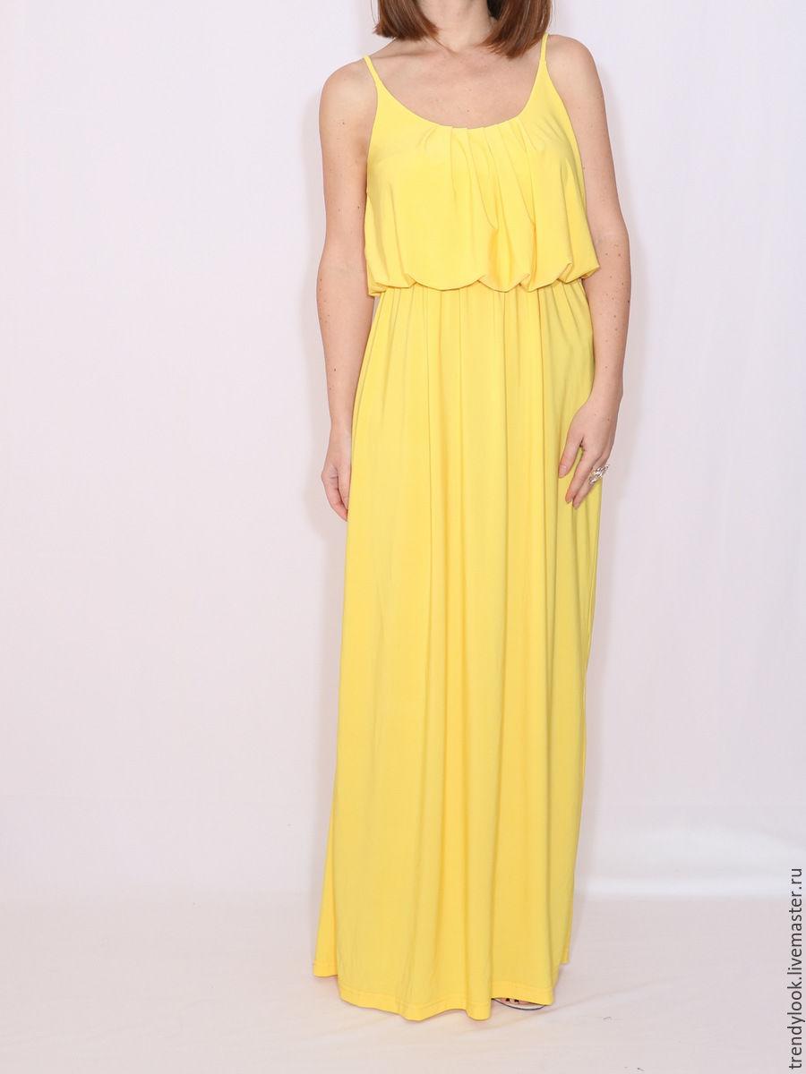 ae8265a6d68c1 Анна. Ярмарка Мастеров · Платья ручной работы. Желтое Платье летнее сарафан  на бретельках.