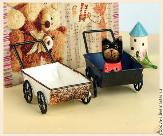 Миниатюра ручной работы. Ярмарка Мастеров - ручная работа. Купить Кукольная миниатюра Повозка. Handmade. Тележка, коляска, игрушка, металл