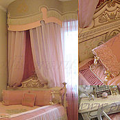 Для дома и интерьера handmade. Livemaster - original item Curtains for the nursery with canopy. Handmade.