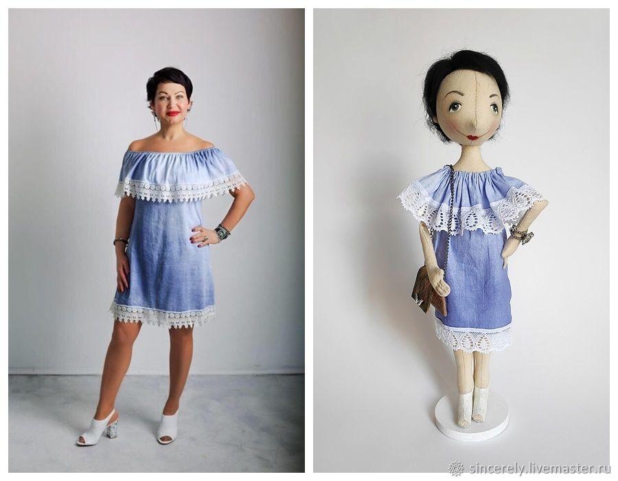 """Кукла по фото """"Леди в голубом платье"""", Портретная кукла, Зеленоград,  Фото №1"""