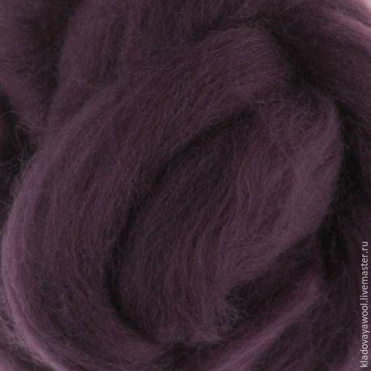 Валяние ручной работы. Ярмарка Мастеров - ручная работа. Купить Меринос18мкр цв.Пурпурный (Purple). Handmade. Шерсть для валяния