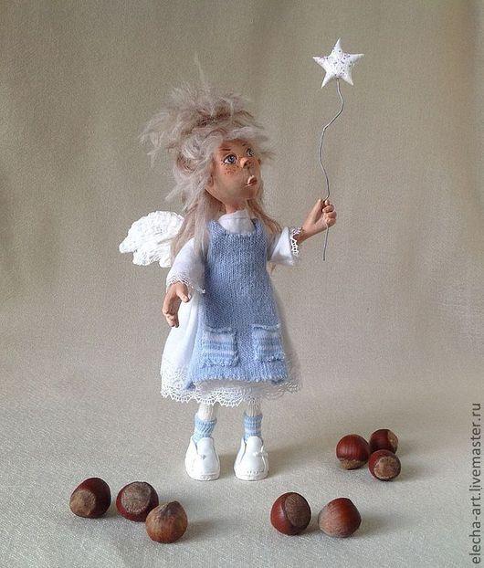 Коллекционные куклы ручной работы. Ярмарка Мастеров - ручная работа. Купить Авторская кукла  Ангел из полимерной глины.. Handmade.