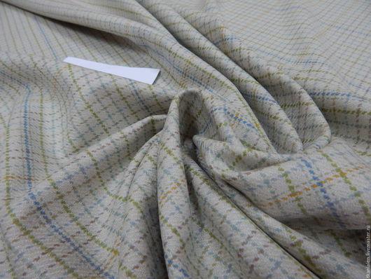Шитье ручной работы. Ярмарка Мастеров - ручная работа. Купить Итальянская шерсть. Handmade. Бежевый, костюмная ткань, ткань италия