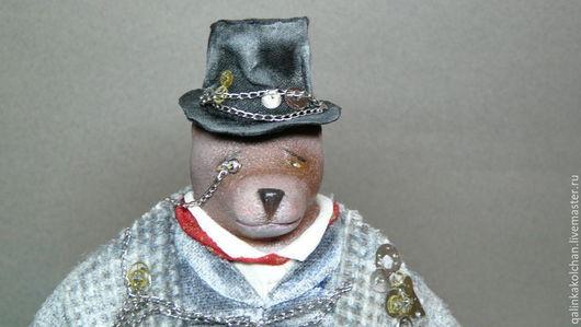 Коллекционные куклы ручной работы. Ярмарка Мастеров - ручная работа. Купить Медведь. Стимпанк.. Handmade. Медведь, кукла интерьерная, серый