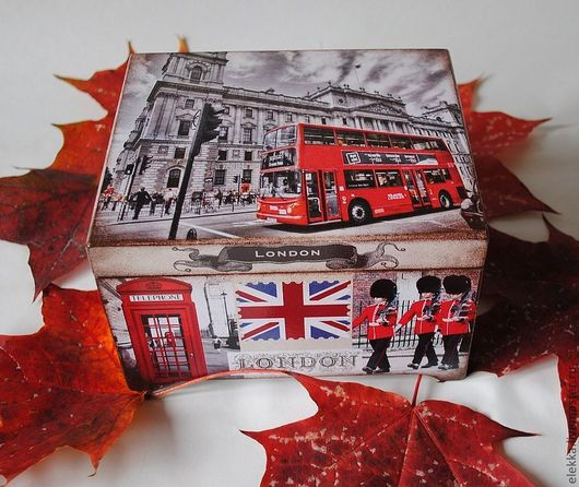 """Шкатулки ручной работы. Ярмарка Мастеров - ручная работа. Купить Чайная шкатулка """"Лондон"""". Handmade. Чайная коробка, для чая"""