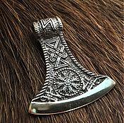 Русский стиль handmade. Livemaster - original item Perun`s axe with the helmet of terror. Handmade.