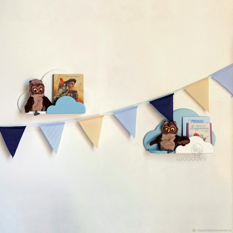 Полочки Облака бело-голубые, Полки, Волгодонск,  Фото №1