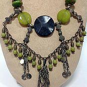Украшения handmade. Livemaster - original item Necklace made of natural stones in an ethnic style taiga witch.. Handmade.