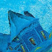 Одежда ручной работы. Ярмарка Мастеров - ручная работа Валяный свитшот Голубая зима. Handmade.