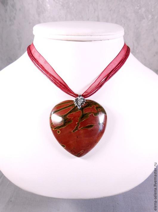"""Кулоны, подвески ручной работы. Ярмарка Мастеров - ручная работа. Купить Кулон """"СЕРДЦЕ"""" из яшмы Пикассо. Handmade. Яшма, сердце"""