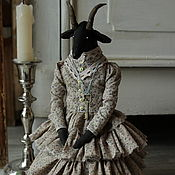 Куклы и игрушки handmade. Livemaster - original item Elodiya.The black goat. Handmade.