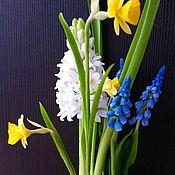 """Цветы и флористика ручной работы. Ярмарка Мастеров - ручная работа """"Дыхание весны""""-композиция из весенних цветов. Handmade."""