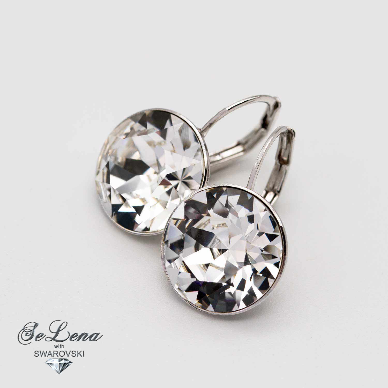 Swarovski bella_sergi Bella earrings with Swarovski crystals, Earrings, Vyshny Volochyok,  Фото №1