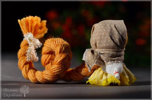 """Народные куклы ручной работы. Ярмарка Мастеров - ручная работа. Купить Куколка на счастье """"Крошечка"""". Handmade. Желтый, рыжий, нежность"""