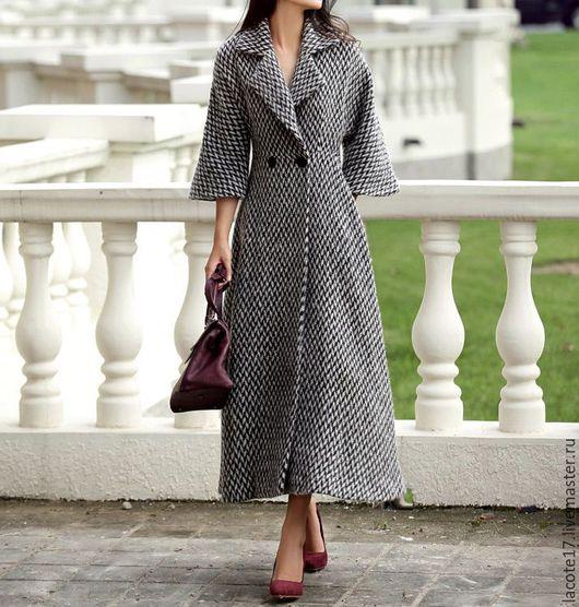 """Верхняя одежда ручной работы. Ярмарка Мастеров - ручная работа. Купить Пальто """"серое"""". Handmade. Комбинированный, пальто женское, дубленка"""