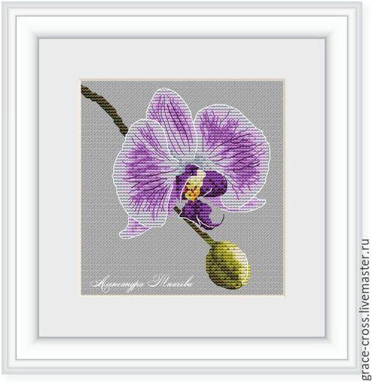 Картины цветов ручной работы. Ярмарка Мастеров - ручная работа. Купить Цветок Орхидеи. Схема для вышивки крестом. Handmade. вышивка