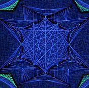 """Картины и панно ручной работы. Ярмарка Мастеров - ручная работа Картина из ниток """"Astral Flower"""". Handmade."""