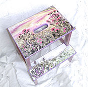 Stools handmade. Livemaster - original item Stepladder - stool Flowers and thorns. Handmade.