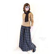 """Одежда ручной работы. Ярмарка Мастеров - ручная работа Юбка - брюки , кюлоты """"Городские прогулки """" , теплые , осенние, зимние. Handmade."""