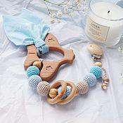 Работы для детей, handmade. Livemaster - original item Teether, a gift for the birth of a son. Handmade.