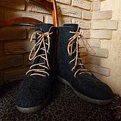 Обувь ручной работы. Ярмарка Мастеров - ручная работа Мужские валяные ботинки. Handmade.