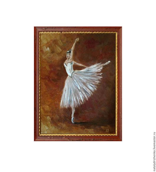 """Люди, ручной работы. Ярмарка Мастеров - ручная работа. Купить Картина маслом """"Балерина"""". Handmade. Разноцветный, картина маслом, подарок"""