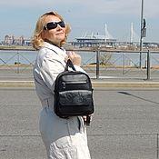 Сумки и аксессуары handmade. Livemaster - original item Backpack female black leather Magdalene Mod R29p-712. Handmade.