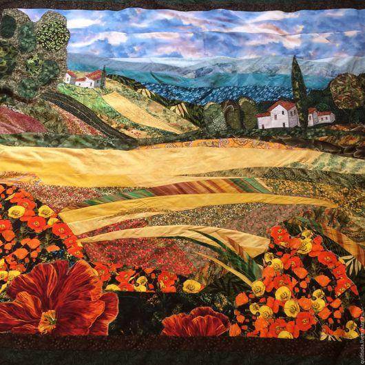 Текстиль, ковры ручной работы. Ярмарка Мастеров - ручная работа. Купить Лоскутное одеяло Маки  Прованса. Handmade. Пэчворк, плед