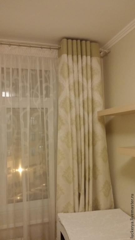 Текстиль, ковры ручной работы. Ярмарка Мастеров - ручная работа. Купить Шторы для спальни Весеннее утро. Handmade. Разноцветный, жаккард