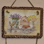 Картины и панно handmade. Livemaster - original item Wall mural Lavender triptych. Handmade.