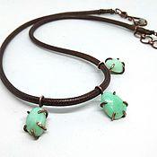 Necklace handmade. Livemaster - original item Necklace with chrysoprase. Handmade.