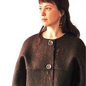 Одежда ручной работы. Ярмарка Мастеров - ручная работа Шерстяное полупальто, 48-52 размер. Handmade.