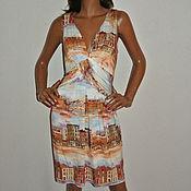 """Одежда ручной работы. Ярмарка Мастеров - ручная работа Платье """"домики"""". Handmade."""