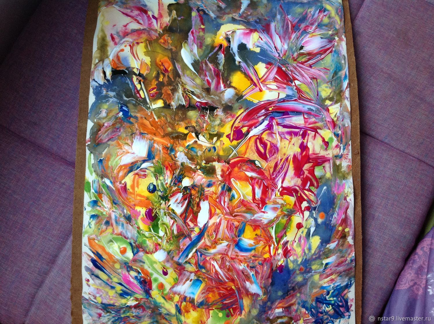 Abstract Art Handmade Livemaster A Study In Bright Colours