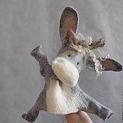 Куклы и игрушки ручной работы. Ярмарка Мастеров - ручная работа Ослик. Перчаточная кукла. Би-Ба-Бо.. Handmade.
