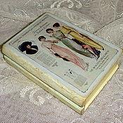 """Для дома и интерьера ручной работы. Ярмарка Мастеров - ручная работа Маленькая шкатулка-книга """"Мода"""". Handmade."""