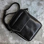 Сумки и аксессуары handmade. Livemaster - original item Men`s leather DEXTER bag, black. Handmade.