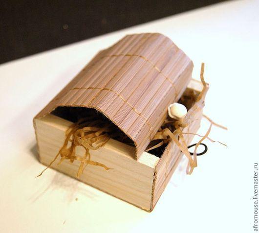 """Упаковка ручной работы. Ярмарка Мастеров - ручная работа. Купить коробочка для украшений """"Бамбук 10"""" 85х85х40мм коричневая. Handmade. Коричневый"""