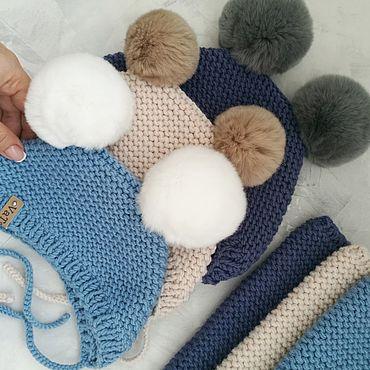 Одежда ручной работы. Ярмарка Мастеров - ручная работа Комплект шапочка и снуд для ребенка. Handmade.