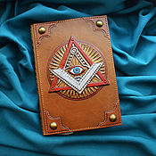 "Канцелярские товары handmade. Livemaster - original item Notebook ""EYE OF PROVIDENCE"". Handmade."