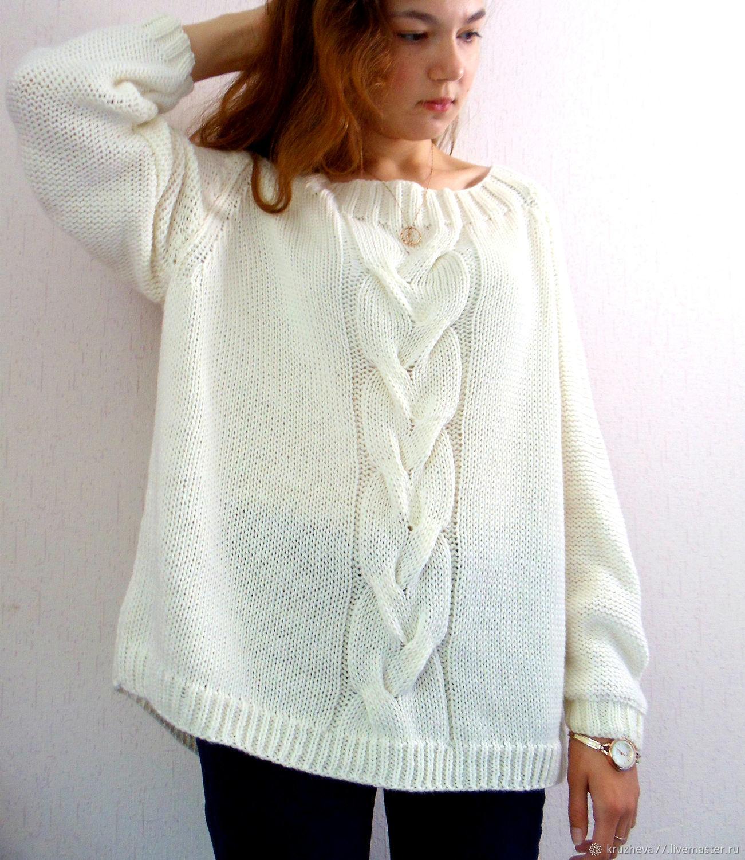 свитер женский вязаный купить в интернет магазине на ярмарке