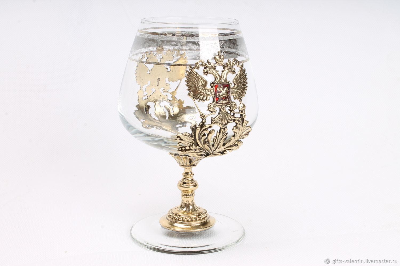 A glass of brandy 'Russia' art casting, Wine Glasses, Vacha,  Фото №1