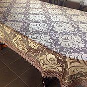 Для дома и интерьера ручной работы. Ярмарка Мастеров - ручная работа Скатерть Шоколад с золотом 2,45x1,60. Handmade.