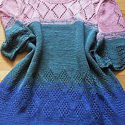 Одежда ручной работы. Ярмарка Мастеров - ручная работа вязаное ажурное платье Многоцветье. Handmade.